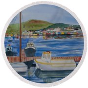 Watercolor - Dingle Ireland Round Beach Towel
