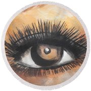 Watercolor Eye Round Beach Towel