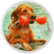 Waterdog Round Beach Towel
