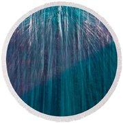 Waterfall Abstract Round Beach Towel by Stuart Litoff