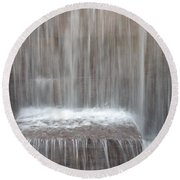 Waterfall At The Fdr Memorial In Washington Dc Round Beach Towel