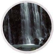 Waterfall, Barranco Del Infierno Round Beach Towel