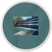 Round Beach Towel featuring the photograph Waterfall Heaven by Emmy Marie Vickers