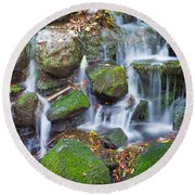 Waterfall In Marlay Park Round Beach Towel