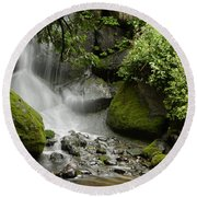 Waterfall Mist Round Beach Towel