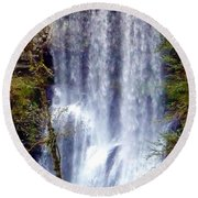 Waterfall South Round Beach Towel