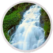 Waterfalls In Golden Gate Park Round Beach Towel