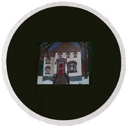 Historic 7th Street Home In Menominee Round Beach Towel by Jonathon Hansen