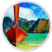 Watermarked-a Dreamy Version Collection Round Beach Towel