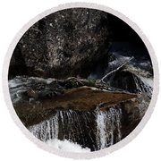Water's Flow Round Beach Towel