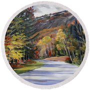 Waterville Road New Hampshire Round Beach Towel