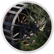 Waterwheel Round Beach Towel