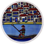 Watery Venice Round Beach Towel