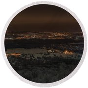 Wausau From On High Round Beach Towel