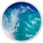 Wave 01 Round Beach Towel