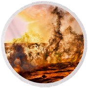 Wave Crasher La Jolla By Diana Sainz Round Beach Towel