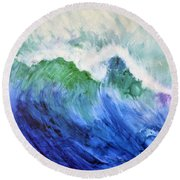 Wave Dream Round Beach Towel