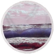 Wave Formation 2 Round Beach Towel