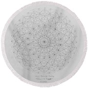 Wave Particle Duality Original Round Beach Towel