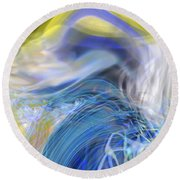 Wave Theory Round Beach Towel by Richard Thomas