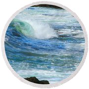Wave To Me Round Beach Towel