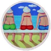 Wave Watch - Beach Round Beach Towel