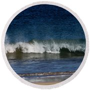 Waves And Surf Round Beach Towel
