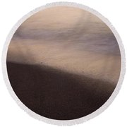 Round Beach Towel featuring the photograph Waves by Bradley R Youngberg