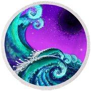 Waves Round Beach Towel by Carol Jacobs