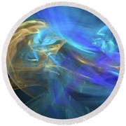 Waves Of Grace Round Beach Towel by Margie Chapman
