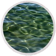 Waves On Lake Tahoe Round Beach Towel