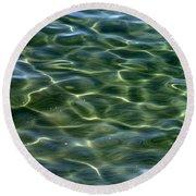 Waves On Lake Tahoe Round Beach Towel