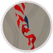 Waving Round Beach Towel by Lydia Holly