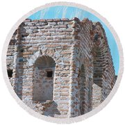 Round Beach Towel featuring the photograph Waving To The Sky by Kerri Mortenson