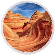 Wavy Bowl Round Beach Towel