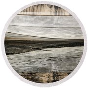 Wavy Reflections Round Beach Towel