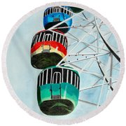 Way Up In The Sky Round Beach Towel