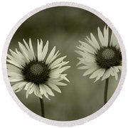 We Are Two Of A Kind Round Beach Towel