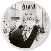 We Believe Round Beach Towel