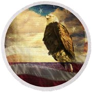 We The People Round Beach Towel by Eleanor Abramson
