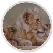 We Three Will Be Kings... Round Beach Towel