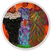 We Women Folk Round Beach Towel by Angela L Walker