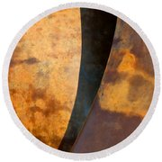 Weathered Bronze Abstract Round Beach Towel