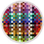 Weave #1 Multi-color Round Beach Towel