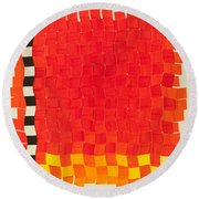 Weave #2 Sunset Weave Round Beach Towel