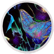 Webbed Galaxy Round Beach Towel
