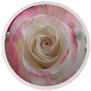 Round Beach Towel featuring the photograph Wedding Bouquet by Deb Halloran