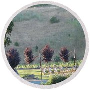Round Beach Towel featuring the photograph Wedding Grounds by Shawn Marlow