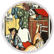 Wee Small Hours 1909 Round Beach Towel