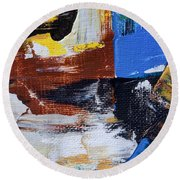 Round Beach Towel featuring the painting Weekend Retreat by Heidi Smith